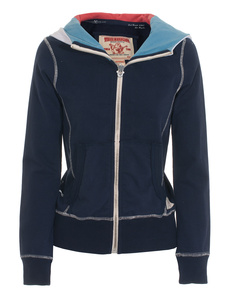 TRUE RELIGION Sherpa Lined Hood Blue