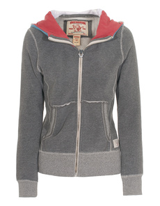 TRUE RELIGION Sherpa Lined Hood Dark Melange
