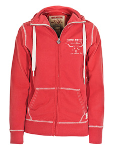 TRUE RELIGION Jack Hood Coral Red