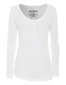 TRUE RELIGION Simple Silk White