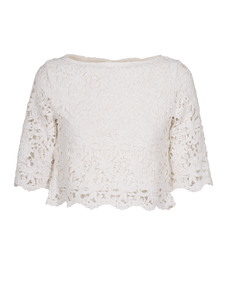 Nightcap Clothing Daisy Crochet Crop White