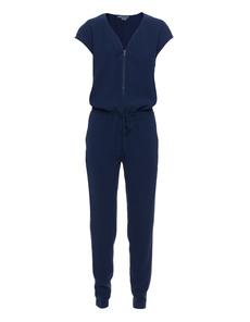 VINCE Zipped V-Neck Blue Marine