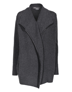 VINCE Rib Knit Open Grey