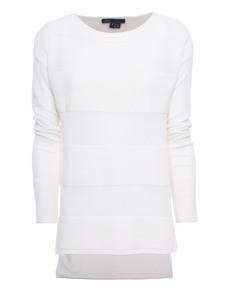 VINCE Ottoman Stripe Off-White