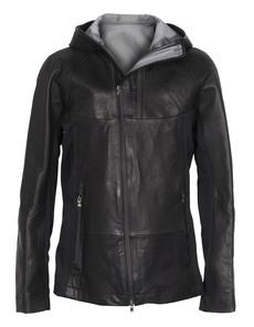 THE VIRIDI-ANNE Leather Hood Black