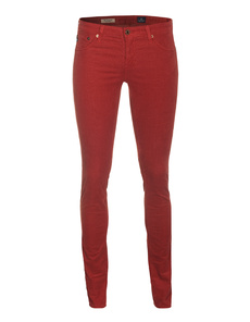 AG ADRIANO GOLDSCHMIED  The Legging Corduroy Red