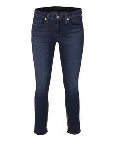 Genetic Denim Jezebel Skinny Zip Crop Dark Blue
