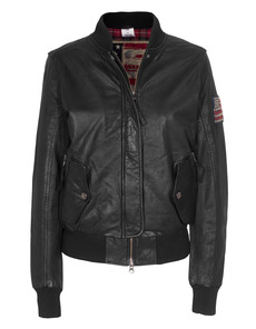 TRUE RELIGION Leather Blouson Black