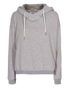 TRUE RELIGION Feather Hood Sweat Grey Marl
