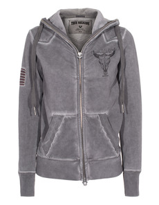 TRUE RELIGION Hooded Zip Castlerock