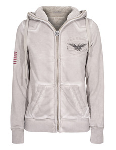 TRUE RELIGION Hooded Zip Teddy Sand