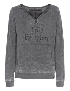 TRUE RELIGION Burn Out Sweat Jet Black