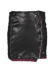 TRUE RELIGION Leather Check Black