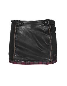 TRUE RELIGION Check Hem leather black