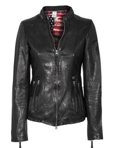 TRUE RELIGION Biker With Crawl Rivets Black