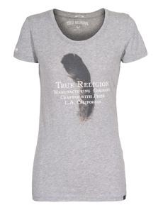 TRUE RELIGION Feather Crew Neck Grey