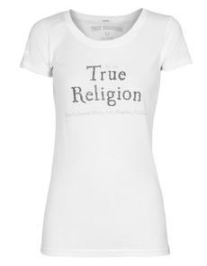 TRUE RELIGION Crew Neck Label White