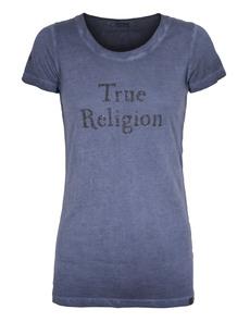 TRUE RELIGION Lettering Crew Neck Blue