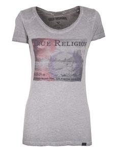 TRUE RELIGION Wings Group Crew Neck Grey