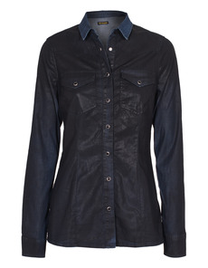 TRUE RELIGION Danielle Western Wetlook Black