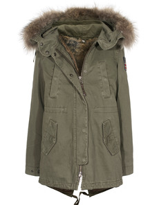 TRUE RELIGION Parka Military Green