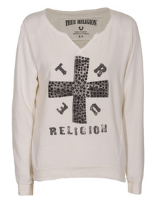 TRUE RELIGION Cross Boxy Off White