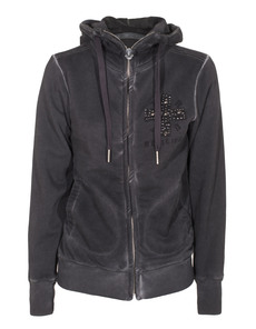 TRUE RELIGION Hooded Cross Jet Black