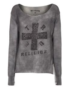 TRUE RELIGION Cross Knit Jet Black