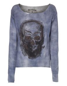 TRUE RELIGION Skull Knit Parisian Blue