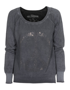 TRUE RELIGION Special Raglan Peace Black