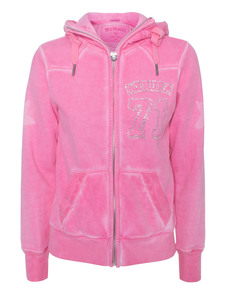 TRUE RELIGION True 71 Hooded Zip Pink