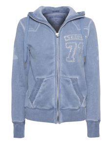 TRUE RELIGION True 71 Hooded Zip China Blue