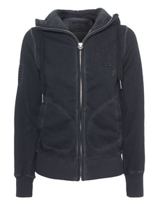 TRUE RELIGION Hooded Zip California Black