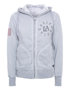 TRUE RELIGION Hooded Zip California Grey
