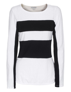 JAMES PERSE Block Stripe Black White