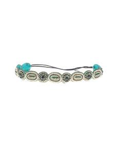 Deepa Gurnani Rich Circle Emerald Green Silver