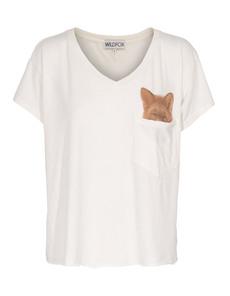WILDFOX Pocket Fox Off White