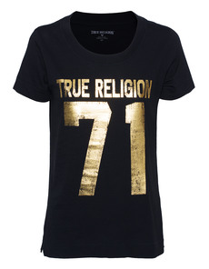 TRUE RELIGION 71 Graphic Relaxed Gold Black