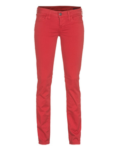 TRUE RELIGION Shannon Sateen Skinny Red