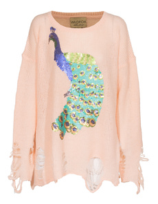 WILDFOX Sequin Peacock Baby Rose