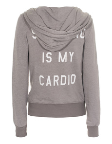 WILDFOX Shopping Is My Cardio Vintage Grey