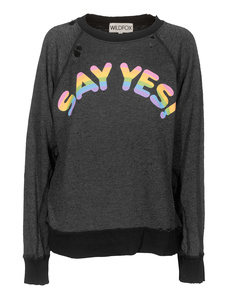 WILDFOX Say Yes Destroyed Black