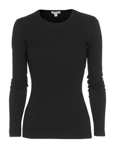 JAMES PERSE Jersey Long Sleeve Crew Neck Black