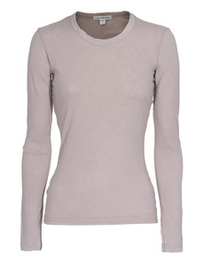 JAMES PERSE Jersey Long Sleeve Crew Neck Taupe
