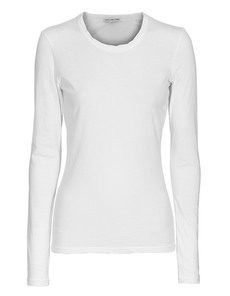 JAMES PERSE Jersey Long Sleeve Crew Neck White