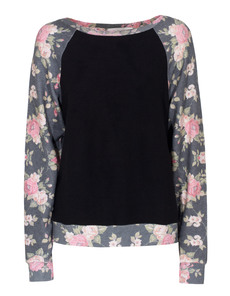 WILDFOX Black Rose Jet Black Multi