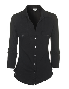 JAMES PERSE Button Up Black