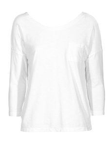 JAMES PERSE Sheer Slub Pocket White