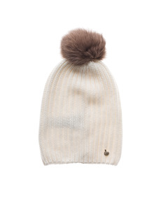 WOOLRICH W's Cashmere Hat Snow Flurry Off white