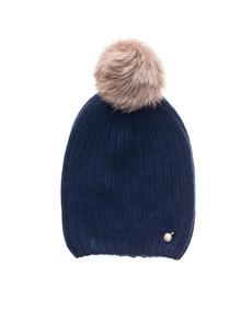 WOOLRICH W's Cashmere Hat Blue